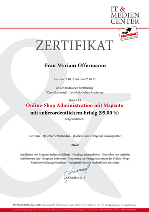 magento administration_it dtpakademie